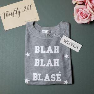 [Wildfox] Blah Blah Blase Monte Crop - NWT